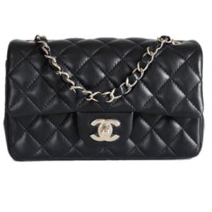 Chanel Black Rectangular Flap Mini