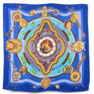 Hermes Blue Silk Scarf MM