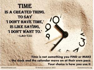 finding time1