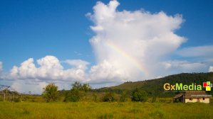 Rainbow without rain in the Rupununi Savannah.
