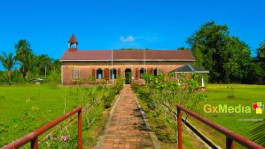 An old dutch church on Fort Island, Essequibo.