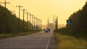 Sunset on the road to the Berbice Bridge....