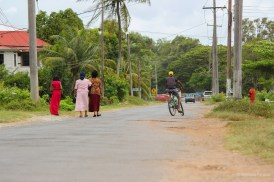 Ladies strolling to church...