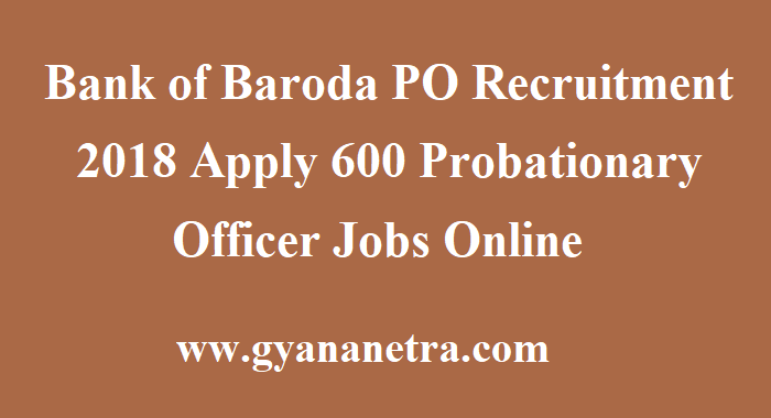 Bank of Baroda PO Recruitment