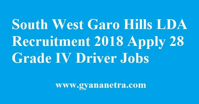 South West Garo Hills LDA Recruitment