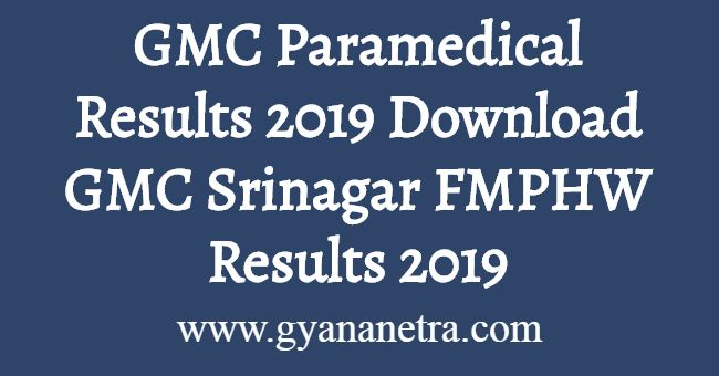 GMC Paramedical Results