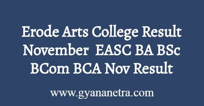 Erode Arts College Result November