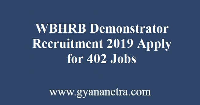 WBHRB Demonstrator Recruitment