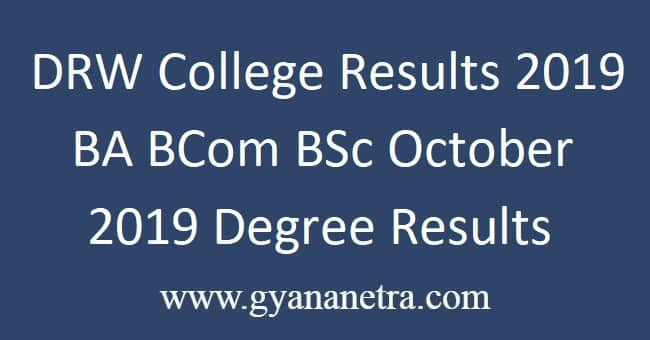 DRW-College-Results-2019