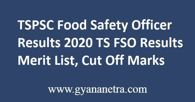 TSPSC Food Safety Officer Results