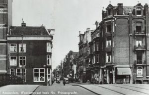 De Weesperstraat hoek Nw. Prinsengracht in Amsterdam.