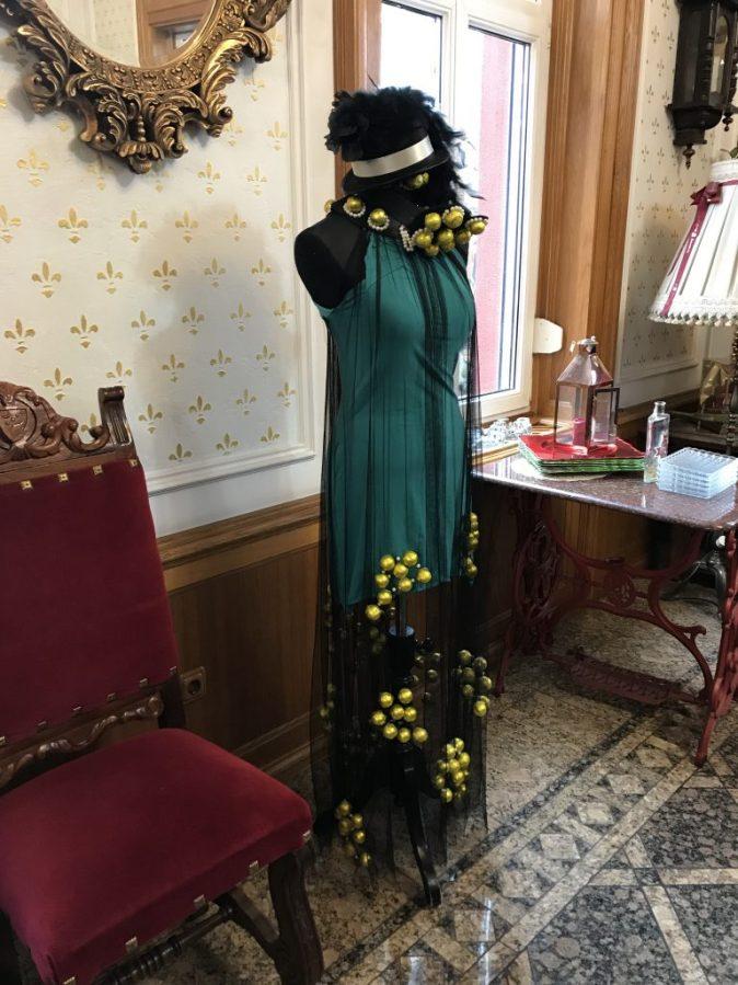 dress with chocolate