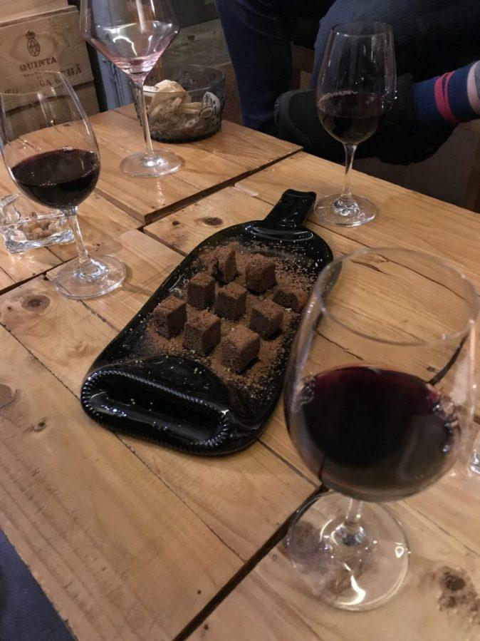 chocolate och port wine