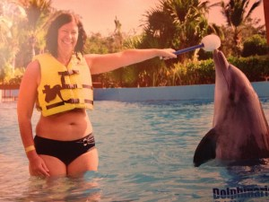 Gyllintours with a dolphin