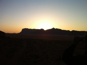 sunset in the desert