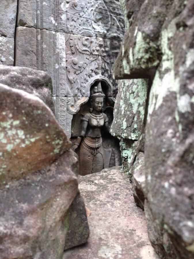 stone figure in ruin