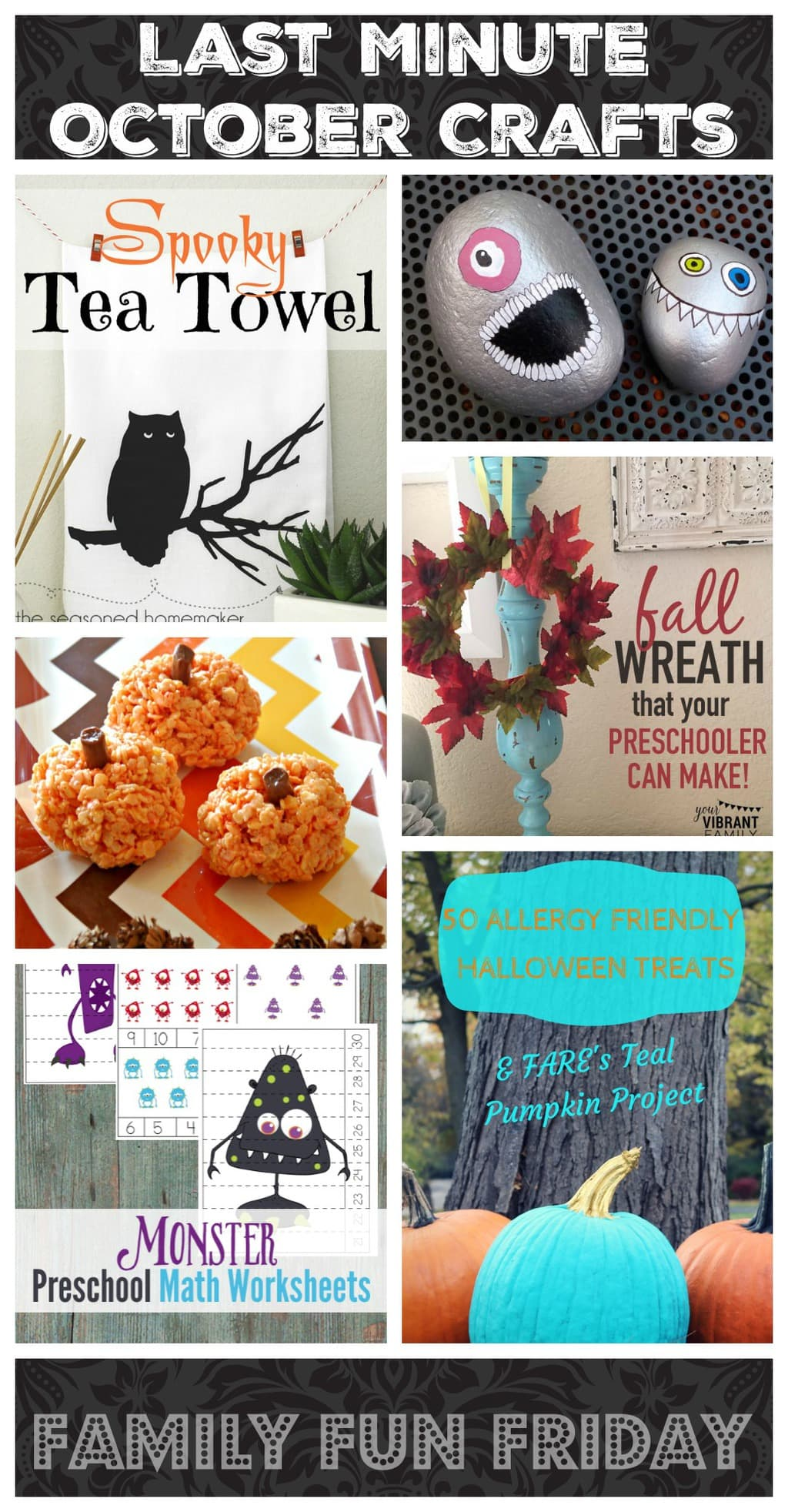 Last Minute October Crafts Gym Craft Laundry