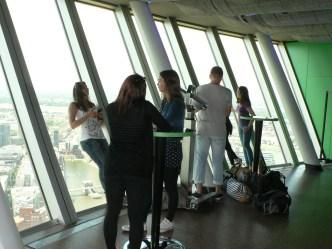 Auf dem Fernsehturm in Düsseldorf