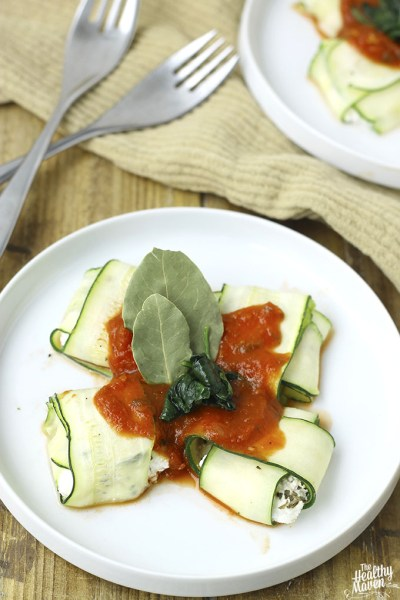 Spinach and Ricotta Stuffed Zucchini Ravioli