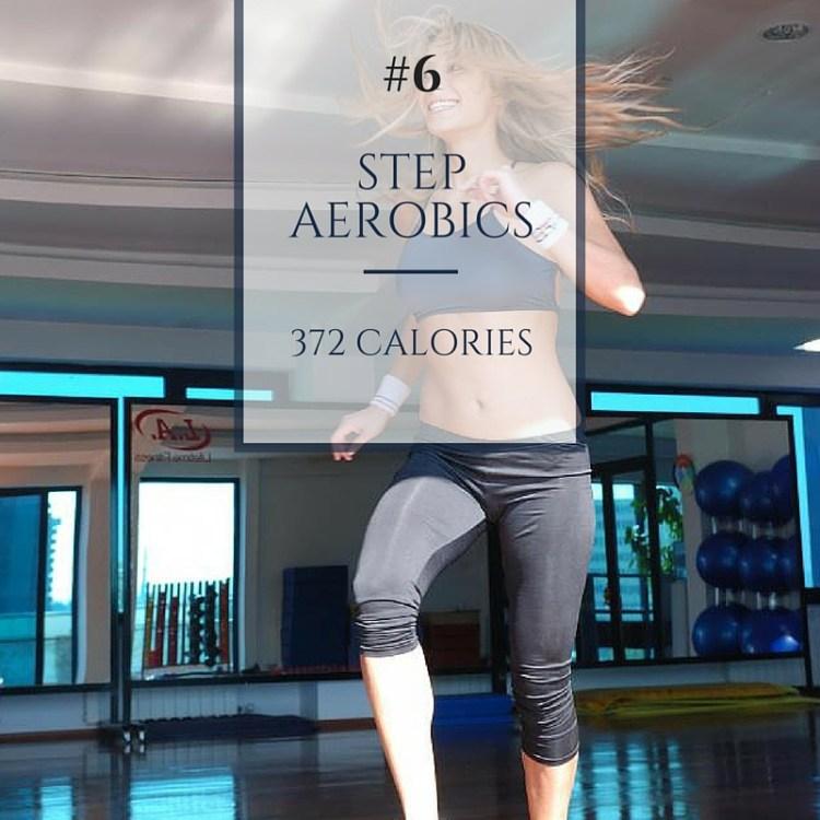 step aerobics calories burned