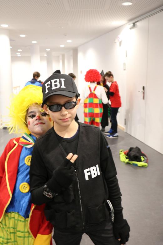 Fasching2018-FBI und Clown
