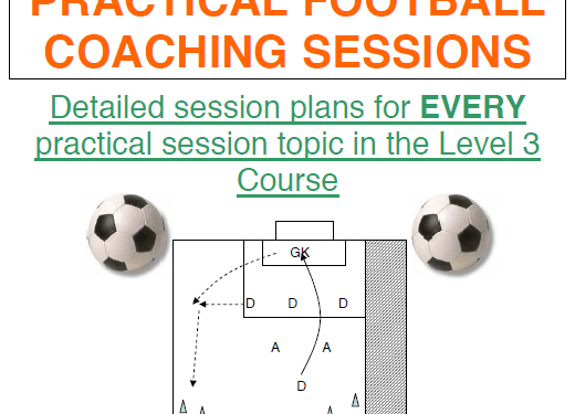 (uefa b (level 3) practical football coaching sessions)