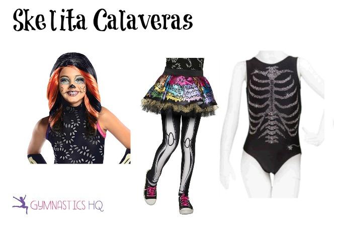 skelita calaveras costume with leotard