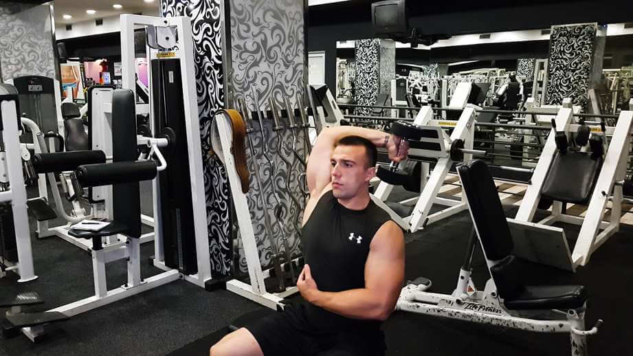 One-Arm Dumbbell Triceps Extensions