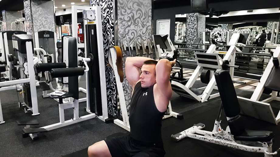 Seated Dumbbell Triceps Extensions