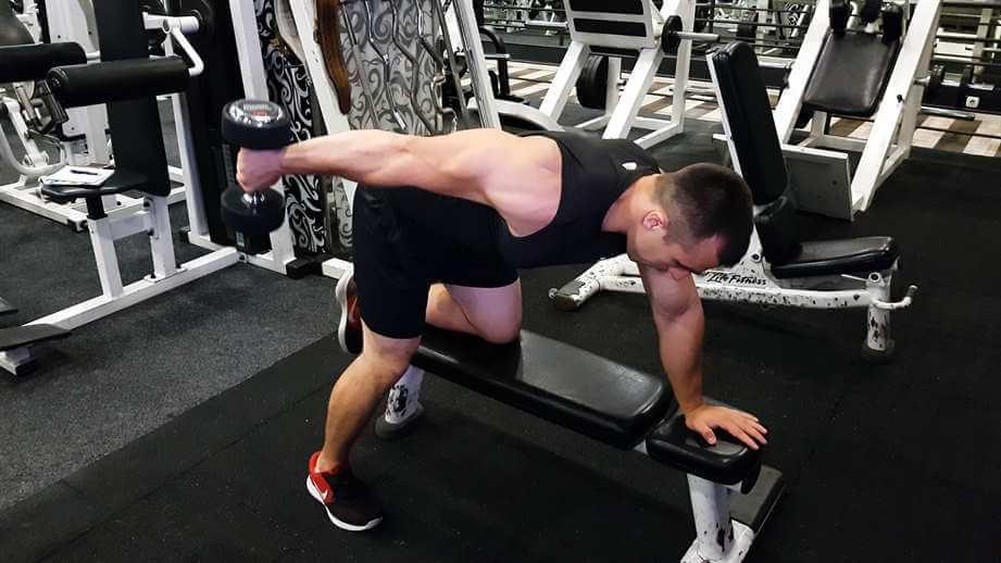 Dumbbell Triceps Kickback