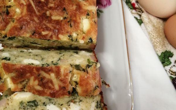 Αλμυρό κέικ με σπανάκι και φέτα