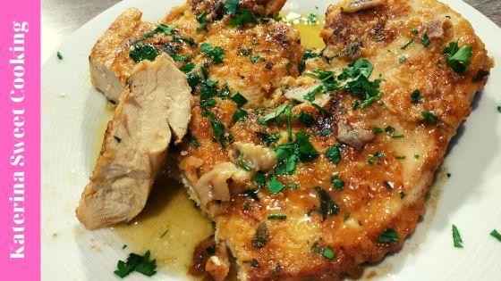 Ζουμερό Κοτόπουλο / Chicken Francaise