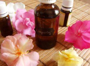 napolaj természetes összetevőkből, növényi olajok, bronzolaj