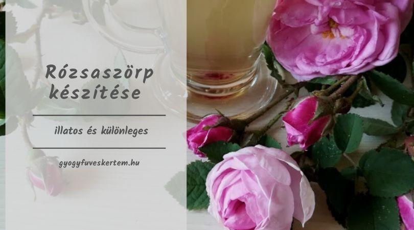 rózsaszörp készítése