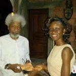 "#OntheBankoftheRiver: Splash FM Ibadan presenter Ife Adeniyi presents her Debut Novel "" On the Bank of the River "" to Prof Wole Soyinka"