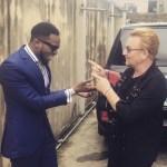 Photo: Member of World Renowned Rock Band U2, Bono Visits Music Star D'banj in Lagos