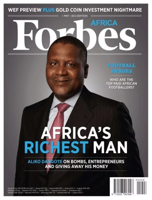 Aliko Dangote Covers Forbes African