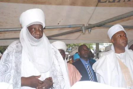 Senate president Bukola Saraki obsrerves prayers on Sallah day