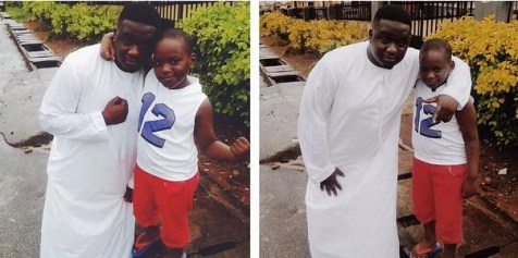 Wande Coal and His 6 Years Old Son