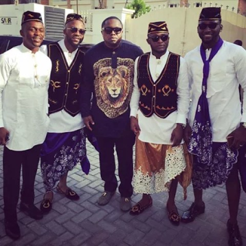 Ubi Franklin & Lilian Esoro White Wedding Photos 19