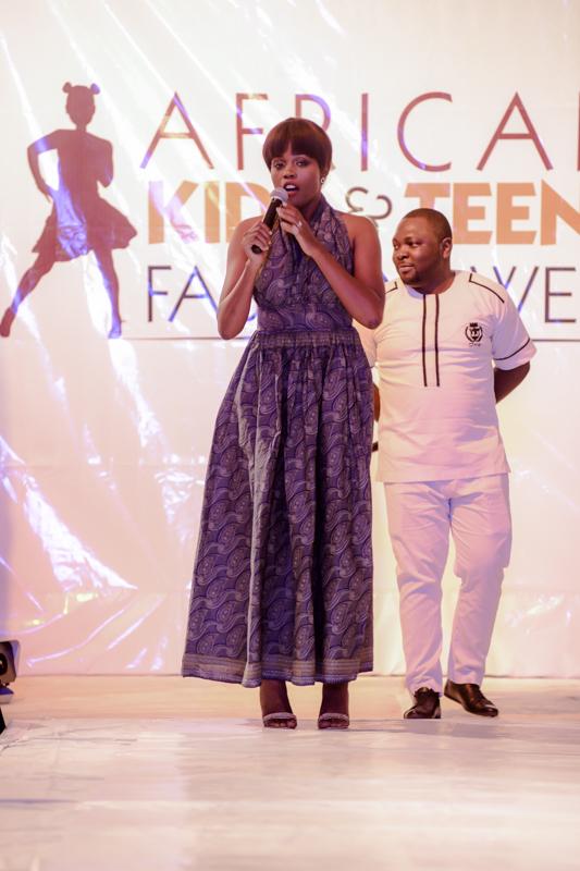Adetoun of Project Fame singing Nation Anthem