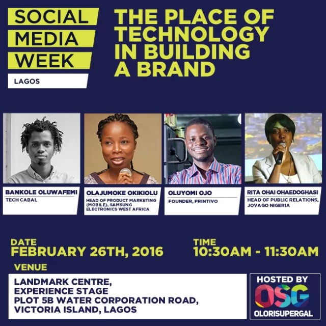 Social Media Week Lagos by Olorisupergal