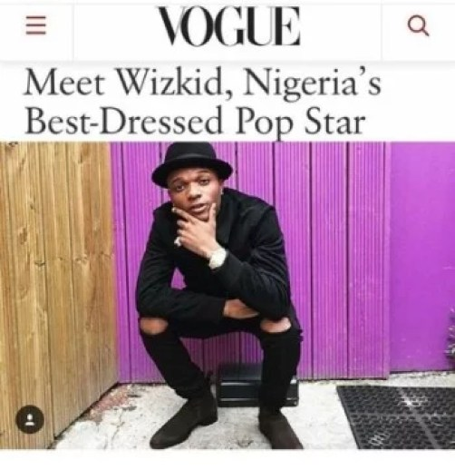 #EmergencyAlert -like I said before .. Visible Hope . Congrats to my brother @wizkidayo more blessing. Proud of you bro. Africa to the World .But wait Ohhh Vogue you might need to spend some more time in Naija next time . I'm sure you will not only see Best dressed in Africa / UK but world 😬🌟👍 .. Check well well...