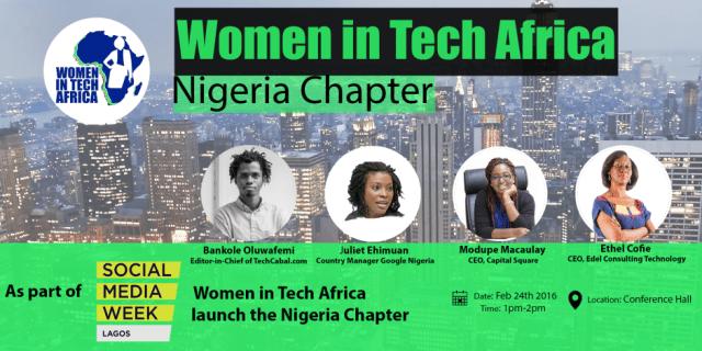 Women in Tech Africa at Social Media Week Lagos 2016