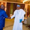 David Mark and President Buhari