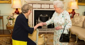 UK Prime Minister Theresa May and Queen Elizabeth