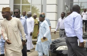 Obasanjo Sighted at Venue of the Inauguration of PDP National Convention Committee