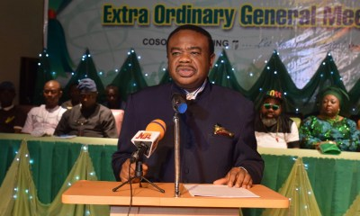 COSON Chairman Chief Tony Okoroji speaking at the event