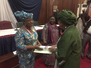 Ngozi Okonjo-Iweala awarded with National Honors 00