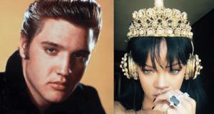 Elvis Presley and Rihanna